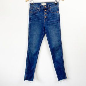 "MADEWELL 10"" High-Rise Skinny Medium Wash Jeans 25"
